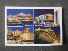 SOUVENIR OF GREECE【原版 40开折叠卡邮政明信片】