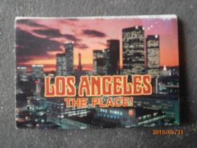 LOS ANGELES ,california THE PLACE !【原版 64开折叠卡明信片】