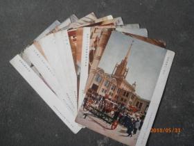 1955年北京农业展览馆明信片 朝花美术出版社 9张
