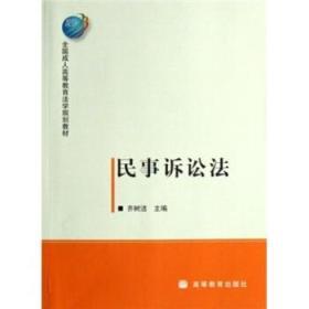 民事诉讼法 正版 齐树洁 9787040218923 高等教育出版社 正品书店