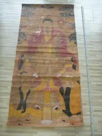 巨幅神仙彩色老画像*《中堂画》*1幅*(151X72厘米)