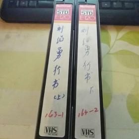 录像带  刘绍勇行书 上下【中国书画函授大学旧藏】23号