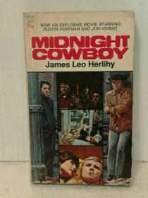 午夜牛郎 Midnight Cowboy by James Leo  Herlihy (A Dell Book 1969年初版) (电影原著) 英文原版书