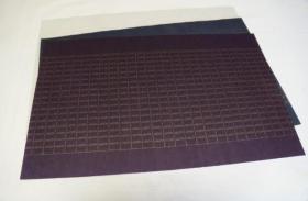 写经用纸47  手漉 高级装饰和纸(淡灰色  金莲纹  1枚 )