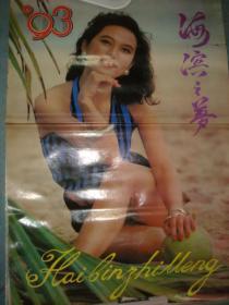 老挂历《海滨之梦》13张全 1992年 吉林美术出版社 私藏 书品如图