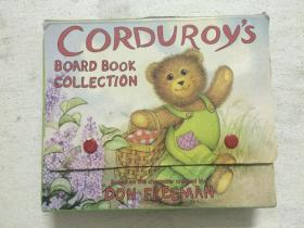 Corduroy's Board Book Collection:《Corduroy's day》+《Corduroy's Party》+《Corduroy's Busy Street》+《Corduroy Goes To The Doctor》(撕不破厚卡书)【英文版 原盒装 4册合售 85/87年印刷】