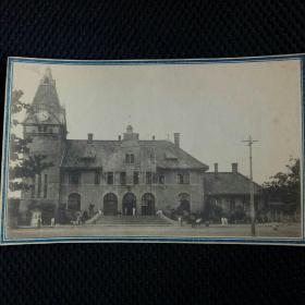 (11)东北早期日俄战争后:日本移民建设东北场景……钟楼大教堂,明信片格式老画片。
