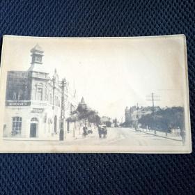 (13)东北早期日俄战争后:日本移民建设东北场景……建筑,大马路人物风景,明信片格式老画片。