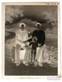 【超珍罕】清末民国 老底片 玻璃底片 8幅 老照片 100年左右了 好品相 超薄玻璃 厚1mm(附赠2套相纸打印照片17.5厘米X12.5厘)米)