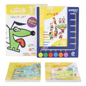 逻辑狗儿童思维升级游戏系统3-4岁尊享装(家庭版·盒式)