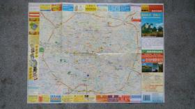 旧地图-成都市旅游交通图(2003年7月7版9月16印)4开85品