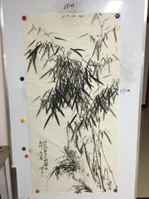 河南画家刘建波精美国画:竹 一幅 68CM*137CM