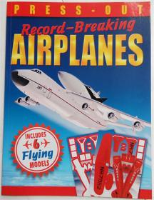 Press-Out Record-Breaking Airplanes Paperback  压紧破纪录的飞机 剪纸 平装书