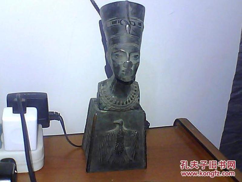 古埃及王后纯银座像