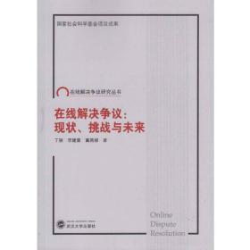 在线解决争议:现状、挑战与未来武汉大学 丁颖、李建蕾、冀燕娜9787307185586