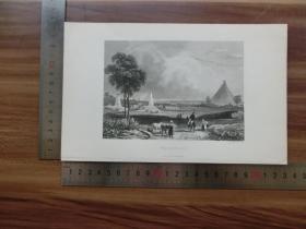【现货 包邮】19世纪 铜/钢版画 单幅 WATERLOO(货号 200266)