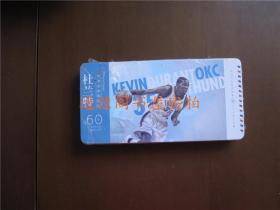 NBA篮球明星:杜兰特 有声分享明信片--30张明信片30张小卡片(铅笔铁盒装,外盒规格20x10x2.5cm,未开塑封,盒底有破损见图)