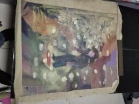 陈浩油画一张,年代不详
