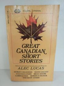加拿大经典短篇小说集 Great Canadian Short Stories (Laurel 1971年版) (加拿大) 英文原版书