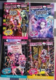 怪物高中 Monster High 怪高 精灵高中 电影改编 小说 4本合售 英文原版