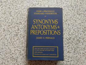Funk  & Wagnalls Standard Handbook of Synonyms, Antonyms, and Prepositions  精装本