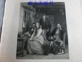 【现货 包邮】《邓肯·格雷 》(duncan gray)1845年钢版画  出自《大卫·威尔基画集》  尺寸约34.8×25.5厘米  (货号18025)