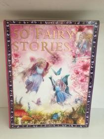 全彩绘本 经典童话故事50部 50 Fairy Stories (童书)英文原版书