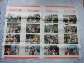 侠女红牡丹===剧照【年画,宣传画】===四条屏2张====2开。