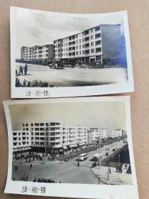 老照片2张:上海闵行一号路(1962年新年贺卡)