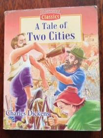 英文原版 老连环画 插图版世界文学名著 双城记