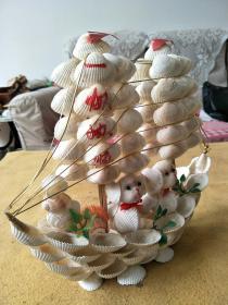 贝壳工艺帆船,一帆风顺