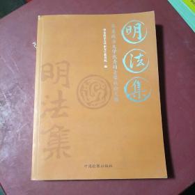 明法集:华东政法大学优秀硕士学位论文选