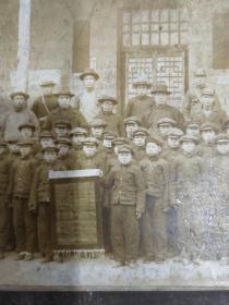 公木的母校民国深泽县学生纪律检阅河疃公立小学纪念照片