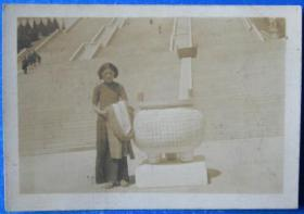 民国老照片:南京中山陵——民国旗袍美女。【桐阴委羽系列】