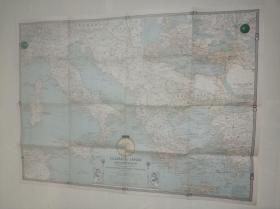 National Geographic国家地理杂志地图系列之1940年3月 Classical Lands of The Mediterranean 地中海地图