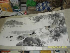 国画:太白醉酒图   横幅  长138 宽70  厘米   画芯尺寸   题款印章自鉴