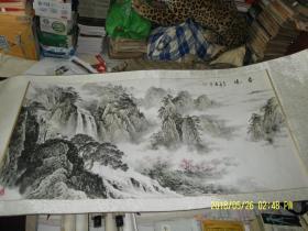 国画:春晓   横幅    长135 宽67  厘米 画芯尺寸   印章题款自鉴