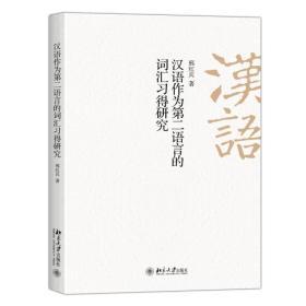 汉语作为第二语言的词汇习得研究
