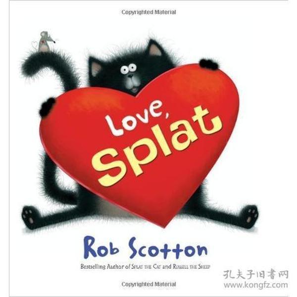 【正版 非二手 未翻阅】Love, Splat 啪嗒猫系列:我好喜欢她 美国国际阅读