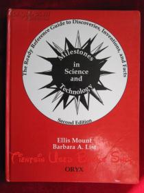 Milestones in Science and Technology: The Ready Reference Guide to Discoveries, Inventions, and Facts(Second Edition)科学技术中的里程碑:发现、发明和事实的参考指南(第2版 英语原版 精装本)