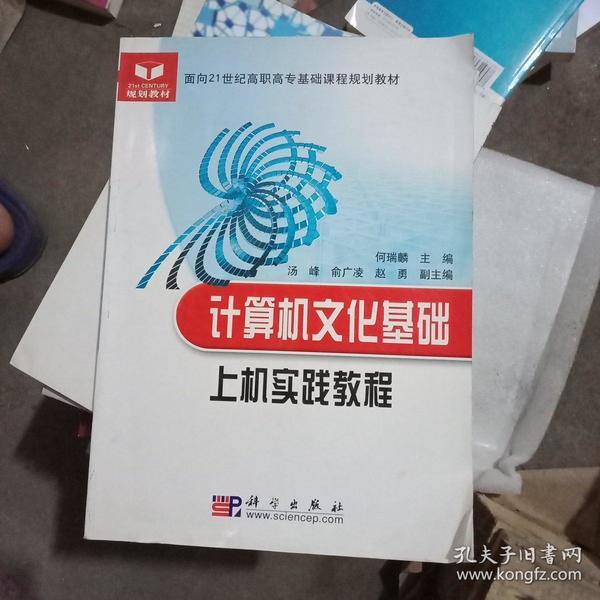 计算机文化基础上机实践教程/面向21世纪高职高专基础课程规划教材