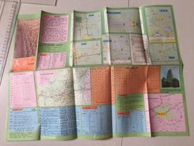 西安导游图1985年.