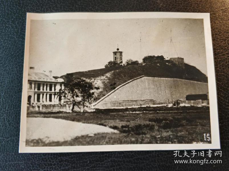 民国香港九龙尖沙咀天文台气象信号塔老照片一张