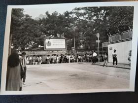香港七十年代九龙塘街景老照片一张