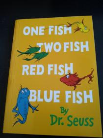 ONE FISH TWO FISH RED FISH BLUE FISH BY DR.SEVSS彩绘本