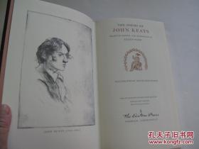 【包邮】1980年出版,英国浪漫主义诗人约翰济慈诗集,The Poems of John Keats Gentleman 内含精美插画作者John  Keats