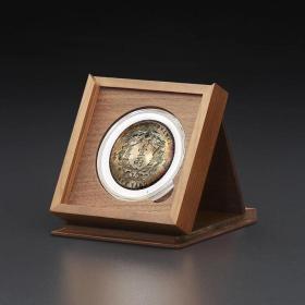 明式黑胡桃純實木素面錢幣收藏小匣(適用52圓盒)