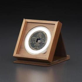 明式黑胡桃纯实木素面钱币收藏中匣(适用71圆盒)