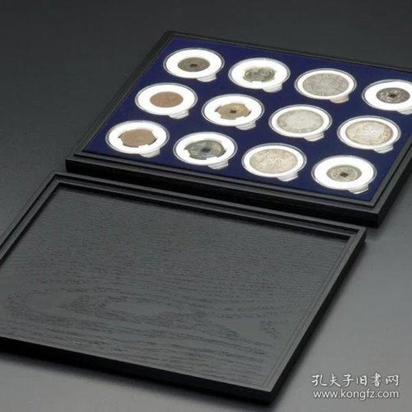 喷绒天地盖钱币收藏盒(DR)
