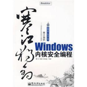 寒江独钓:Windows内核安全编程(有少许笔记,有轻微抓痕)(无盘)